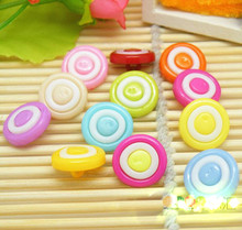 10pcs /lot 13.5mm Mixed Resin Swirl Candy Shank Buttons fit Sewing and Scrapbook Buttpon(China)