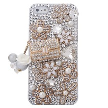 Bling Luxury Crystal Rhinestone Coco Bag Design Diamond Case, Cover for the New Apple iPhone4S 5S 5C 6 6Plus 7 7Plus bling case