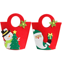 2017 New Boutique Explosion Christmas Apple Candy Bag Gift Xmas Candy Gift Packaging Recyclable Food Bread Party Bags Xmas Decor
