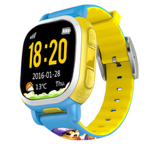Tencent QQ Kids Smart Watch Phone WiFi GPS Tracker Locating GSM Camera Remote Locating Security SIM LBS SOS Alarm Anti Lost Blue