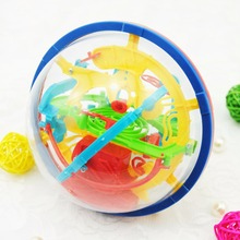 100 Steps Small Big Size 3D Labyrinth Magic Rolling Globe Ball Marble Puzzle Cubes Brain Teaser Game Sphere Maze Children Toys