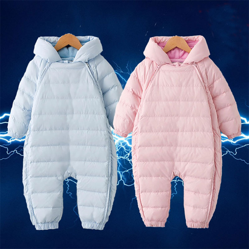 Overalls Baby Snowsuit for Newborns Girl Boy Warm Rompers Fashion Outerwear Sport Infant Jumpsuit Snow Coat Jackets Clothes Set<br>