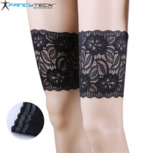3 pcs S-4XL Women Sexy Lace Flower Flexible Leg Garter Warmers Anti-skid Socks Slip Proof Socks(China)