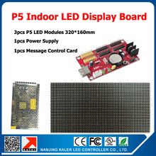 3pcs P5 led panels indoor full color led display screen +1scrolling message control card +1pcs led power supply diy kits