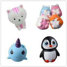 Cute Kawaii Squishy ibloom Mini Whale/Cat/Penguin Millie Blue Scent Squeeze Very Slow Rising Toy(China)