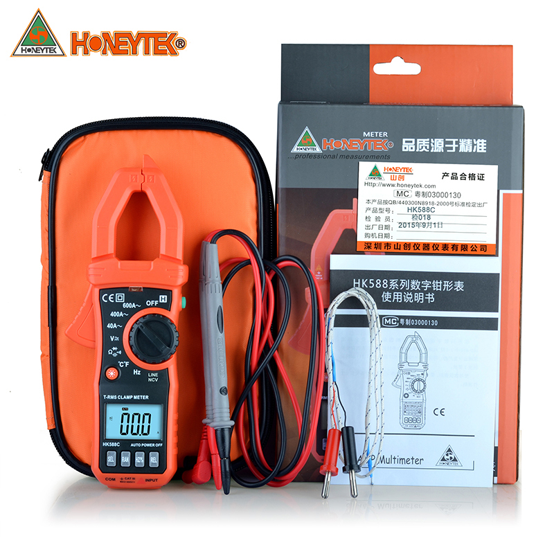 New sale 4000 RMS Clamp head lighting HK588C multimeter zero clearin REL capacitance frequency Digital caliper meter<br>