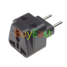 5 pcs EU Travel Adapter Europeplug CEE7/16 Type C, 2 Outlet Port Multi Receptacle(China)