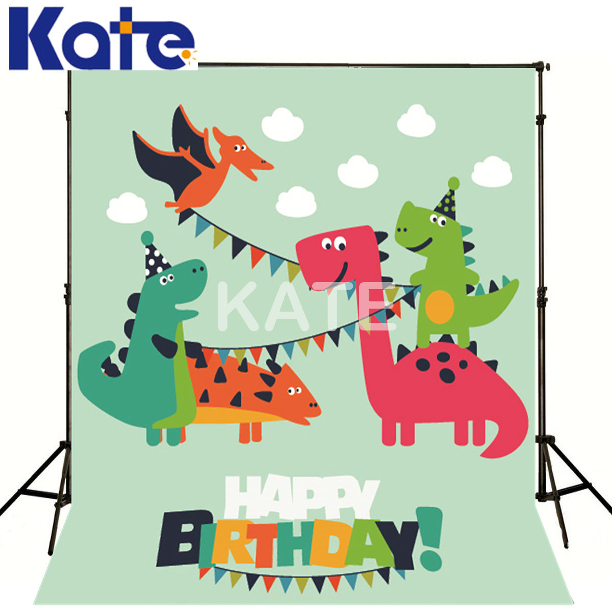 200*300Cm(6.5*10Ft)Photo Background Cartoon Animals For Birthday Kate Background Backdrop<br>