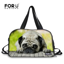 Big Canvas Men Women Travel Bags Large Capacity Animal Dog Cat Print Luggage Tote Handbag Leisure Travel Duffle Bags Trip Bag