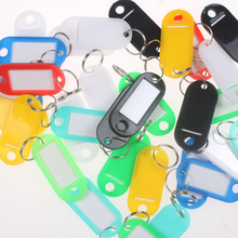 100 pcs lowest price! Key ID Labels Tags with Key Ring Split Rings(China)