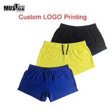 Custom LOGO Plain Workout Shorts High Quality Cotton Men's Shorts Fitness Bodybuilding Clothing Trousers Joggers Clothing