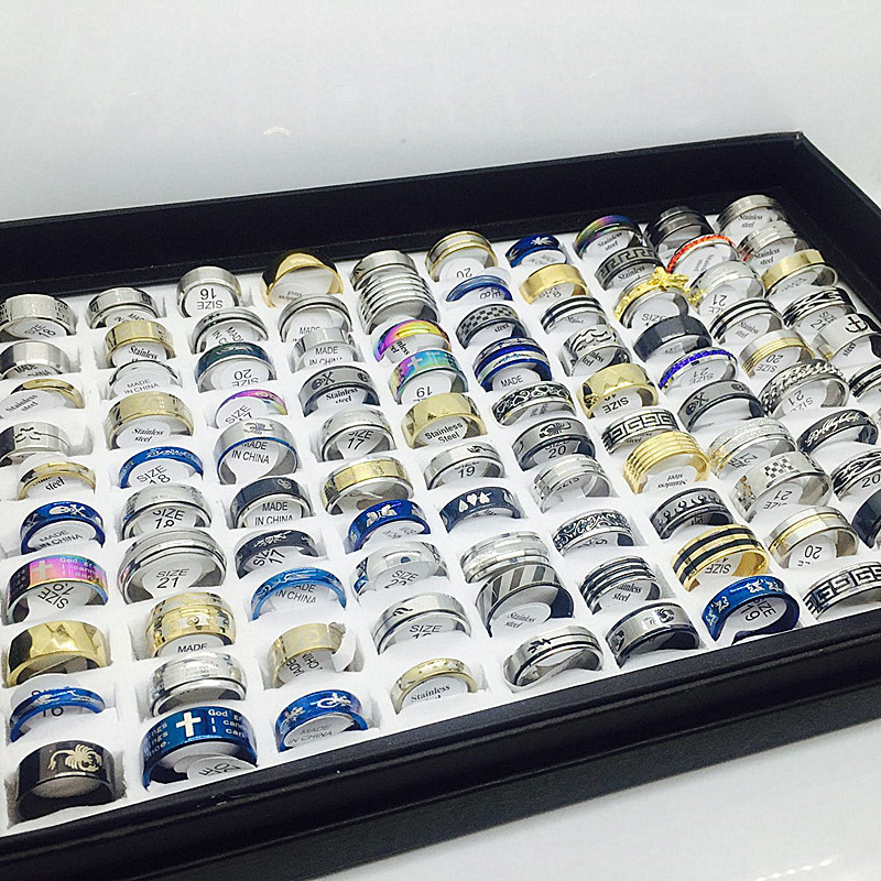 Unisex Set Of Stainless Steel Rings [ 100 piece lot ] 3