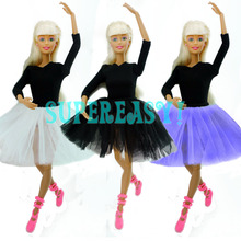 Cute Dancing Costume Ballet Dress Lace Skirt Clothes For Barbie Doll Girls Love Christmas Gift Toy(China)