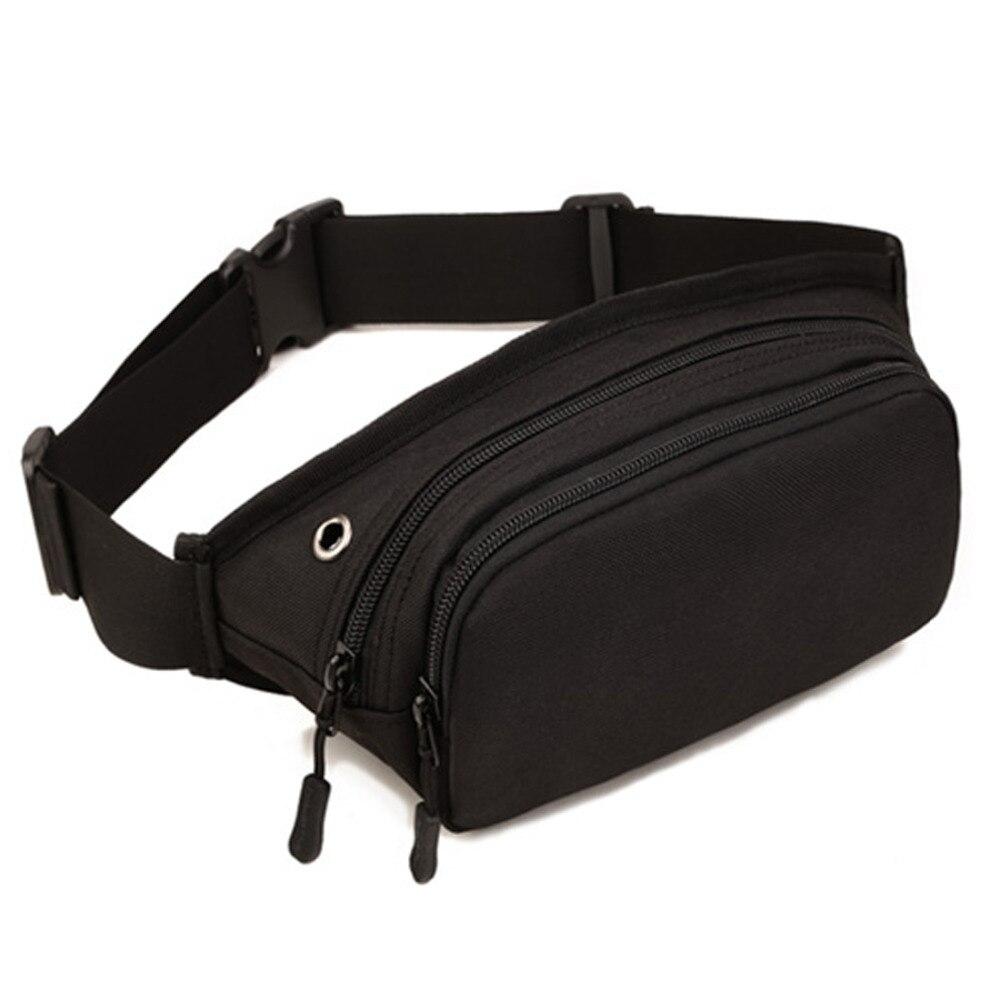 Baru Pria Kulit Asli Sabuk Bum Fanny Pack Tas Pinggang Vintage Waistbag 142b Black Kualitas Tinggi Nilon Tahan Air Dada Perjalanan Hip Treckking Messenger Bahu Serangan