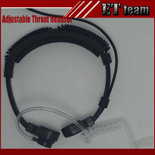 New Security Adjustable Throat headset Throat Microphone Earphone for Baofeng UV-5R UV-B5 UV-B6 UV-82 Radio Transceiver(China)