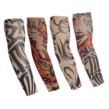 2017 Fashion Men Tattoo Sleeve Fake Tattoo Elastic Arm Warmers UV Arm Protection For Cool Summer Print Women's Accessories