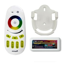 1x Mi.Light 2.4G Wireless RF Touch Remote With Wall Bracket + 1x 4-Zone RGB Controller FOR 5050 3528 RGB LED Strip(China)