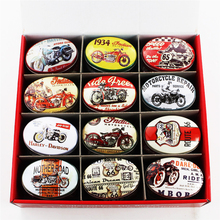 Hot Selling Tea Box Vintage Style Tinplate Shape Storage Tin Box Coin Bag Jewelry Box Candy Storage Case Metal Oval Organizer