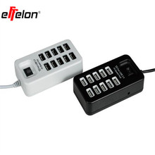 effelon Multi 10 Ports USB 2.0 USB Charger On/Off Switch Portable USB Splitter Peripherals Accessories For Computer/phone(China)