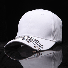Ladybro 2017 Hip Hop Baseball Cap For Women Hat Cap Men Fashion Letter Casual Ring Cap Female Male Snapbacks Dad Hat Black Bone(China)