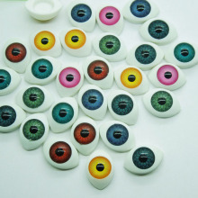 New Arrival 70Pcs (35pairs) 11*16mm Mix color Half Oval Acrylic Plastic Doll Eyes For BJD Dolls Toy Making(China)