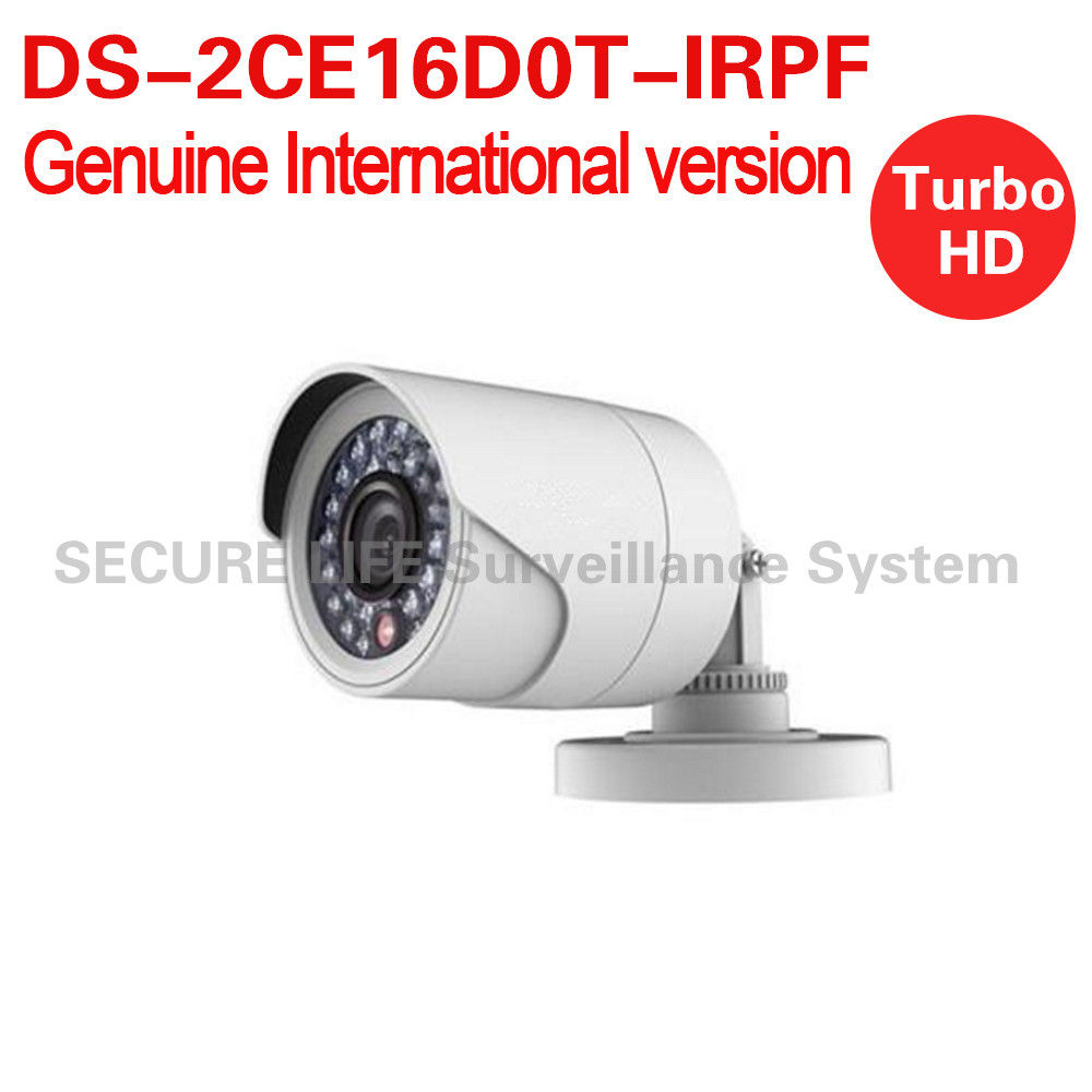DS-2CE16D0T-IRPF English version 2MP Bullet turbo HD TVI Camera up to 20m IR  Switchable TVI/AHD/CVI/CVBS OSD menu IP66 <br>