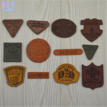 60pcs Letter Number PU leather Garment Labels Tag Shoes Bag Clothes Sewing Patches Zakka DIY Craft Mixed Styles