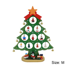 Fun DIY Wooden Christmas Trees Festival Party Xmas Tree Table Desk Decoration Children Christmas Gifts Party Supplies(China)