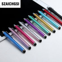 SZAICHGSI Capacitive screen Metal stylus touch pen with clip for iphone 8 7 6 6plus /ipad/mini iPad/iPod touch wholesale 500pcs(China)