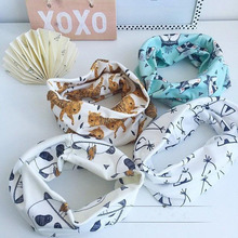 Cotton Baby Scarf Tiger Panda Tent Print Kids Scarves Winter Children Collars Boys Girls Animal O Ring Neckerchief HO932598(China)