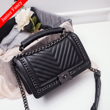 Clearance Sale Fashion PU Classical Designer Chain Street Bolso Mujer Feminina Sac Shoulder Women Messenger Bags 25*15*9cm(China)