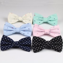 Men Bow Tie Ant Cross British Style Cotton Bowtie Casual Gravata Borboleta Butterfly Anchor Bow Ties