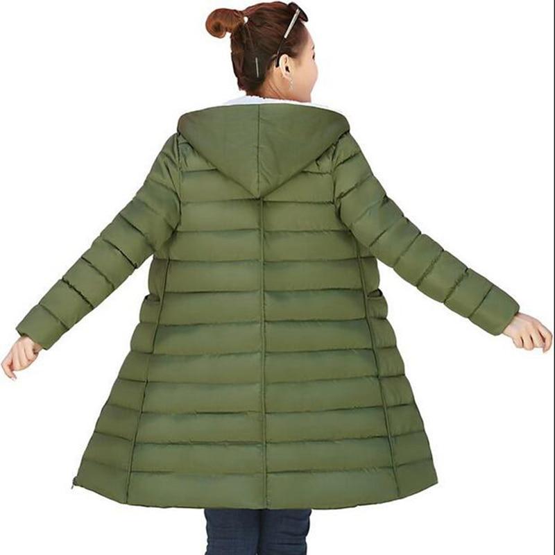 2017 New Winter Jacket Women Hooded Thicken Coat Female fashion Warm Outwear Down Cotton-Padded Long Wadded Jacket Coat Parka Îäåæäà è àêñåññóàðû<br><br>