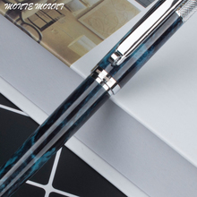 MONTE MOUNT Metal Blue marble Ballpoint Pen Black Silver Luxury Ink Pen Customize Engrave  Business Creative Gift