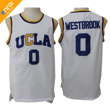 Cheap Russell Westbrook Basketball Jersey 0# UCLA Bruins College Retro Uniforms 3 Colors Stitched Embroidery High Quality Shirt(China)