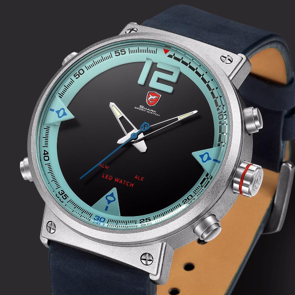 HTB1kD4CdnnI8KJjSszbq6z4KFXa2 - Bluegray Carpet Shark Sport Watch - Blue SH547