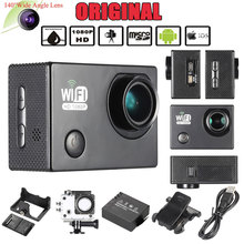 "Oversea Stock 2.0"" LCD Wifi Sports Action Camera Full HD 1080P 30FPS 12MP 4X Zoom 140 Degree Wide-Lens for Car DVR PC Camera(China)"