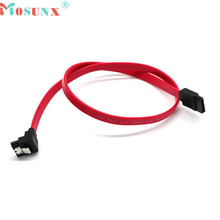 Mosunx advanced 2017 Hot sales 45cm Right Angle SATA Cable Serial ATA Data Lead Locking Latching S-RA 0.5m  1PC