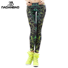 NADANBAO wholelsales New Fashion Women leggings 3D Printed color legins Ray fluorescence leggins pant legging for Woman(China)
