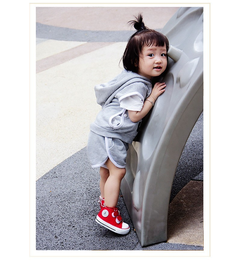 Baby shoes Girl Children Canvas shoes Boys 17 Spring Autumn Fashion High Cotton-made Baby girl little kids shoes 12