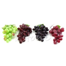 NEW Lifelike Artificial Grapes Plastic Fake Fruit Food Home Decor Decoration(China)