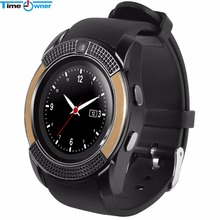 Timeowner Bluetooth Smart Watch V8 SIM Card TF Card HD Circular Screen Smart WristWatch Phone Watch For Android Smangsung LG(China)
