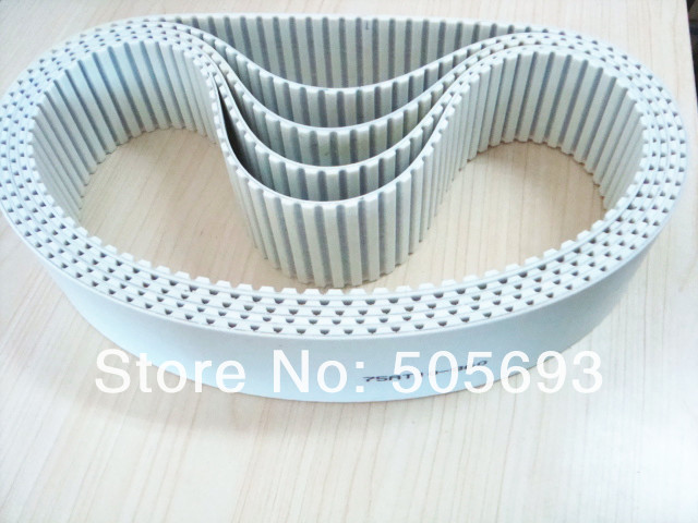 AT5 closed PU with steel core belt width 10mm ,length is 510mm,sell by 10pcs/package<br>