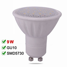 Dimmable LED Spotlight 9W GU10 LED Lamp 110V 220V LED Bulb SMD5730 Bombillas LED Light High Quality Warm /Cold White