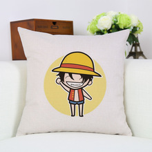 Anime One Piece Cartoon Luffy Roronoa Zoro Nami Printed Cushion Cover Home Sofa Bedding Arts Decorative Pillow Case 18 Inch New(China)