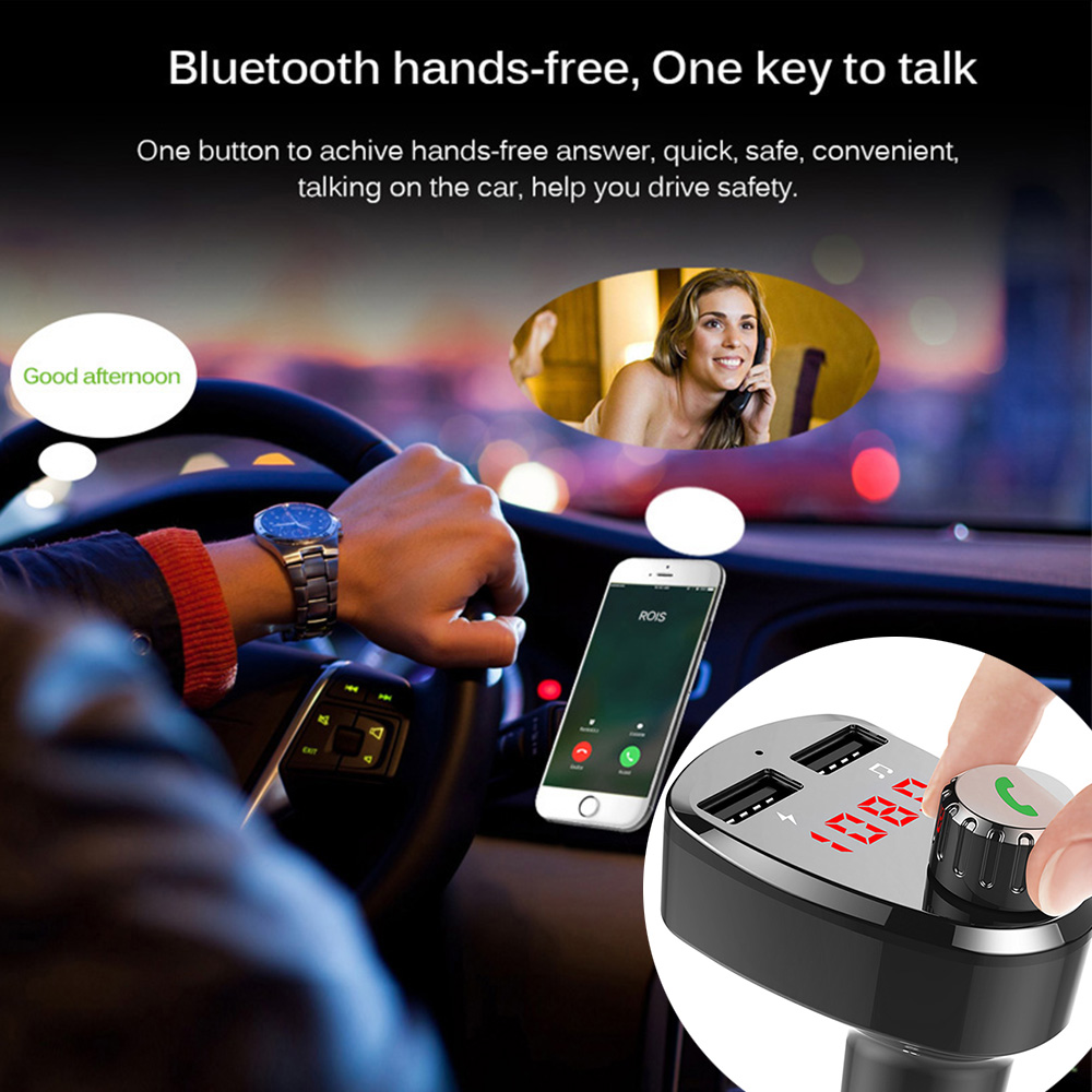 E0146 G13 Bluetooth Car Kit FM Modulator (2)
