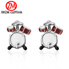 Formal Red white drum football Cufflink for Mens Suits Buttons Geometric Wedding Cufflink French Grooms Shirt Brand Cuff Links