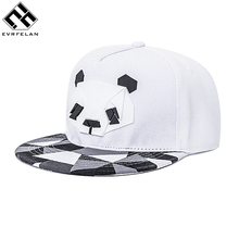 New Arrive Snapback For Men Women Snapback Hat Outdoor Hat Style Baseball Hat Cap Cute Panda Baseball Cap Adjustable(China)