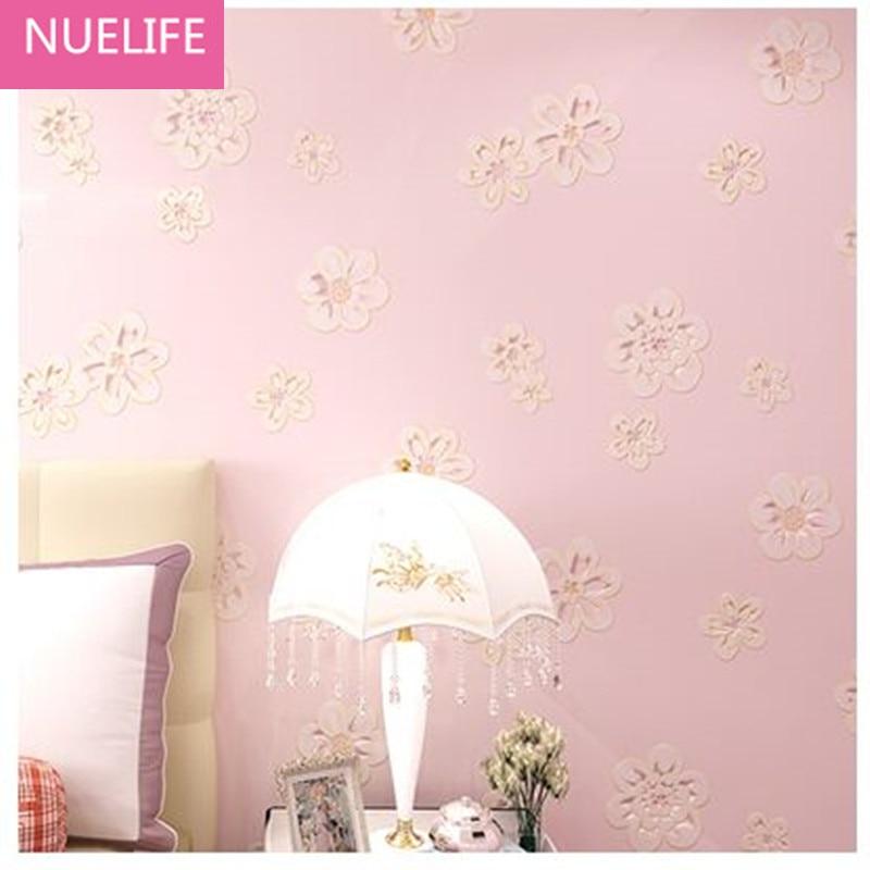 0.53x10m 3D garden flowers wallpaper bedroom living room wedding room boys and girls room non - woven wallpaper N2<br>