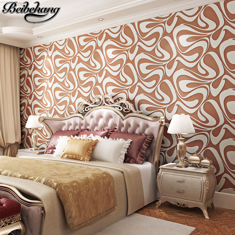 beibehang High quality geometric-relief deerskin velvet wallpaper living room bedroom dining room TV background wall paper<br>